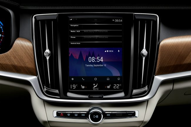 Android Auto start screen