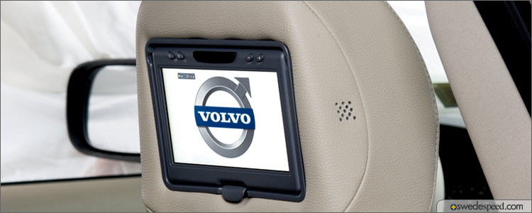 Rear Seat Entertainment System with Dual DVD Players Available from Volvo Accessories